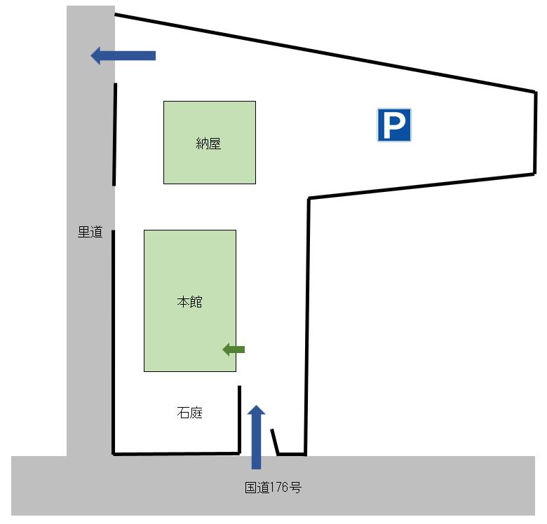 iso乃家敷地図